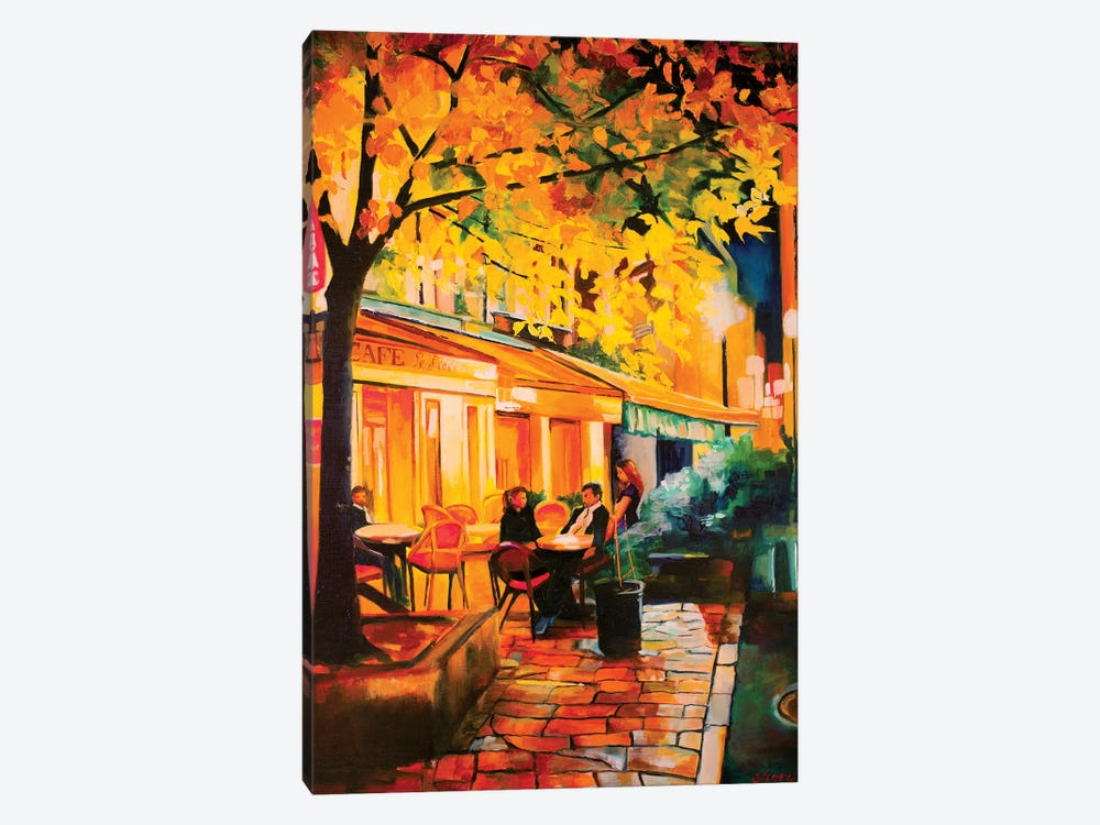 Corner Cafe by Maxine Shore 1-piece Canvas Art