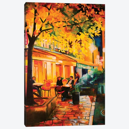 Corner Cafe Canvas Print #SHO7} by Maxine Shore Canvas Artwork
