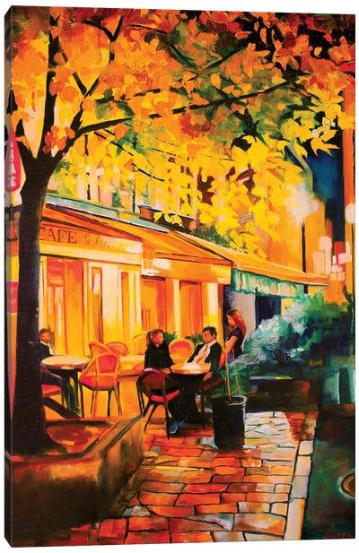Corner Cafe Canvas Art Print