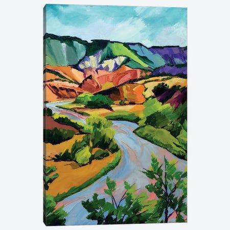 New Mexico Landscape Canvas Print #SHO80} by Maxine Shore Art Print
