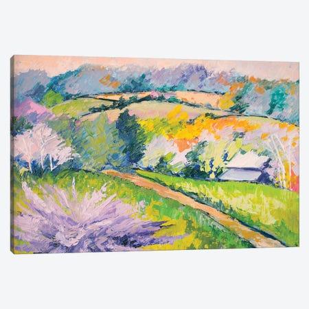 Covered Bridge Road 3-Piece Canvas #SHO8} by Maxine Shore Canvas Art Print