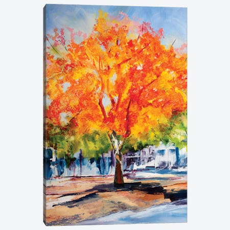 Fall Foliage Canvas Print #SHO9} by Maxine Shore Art Print