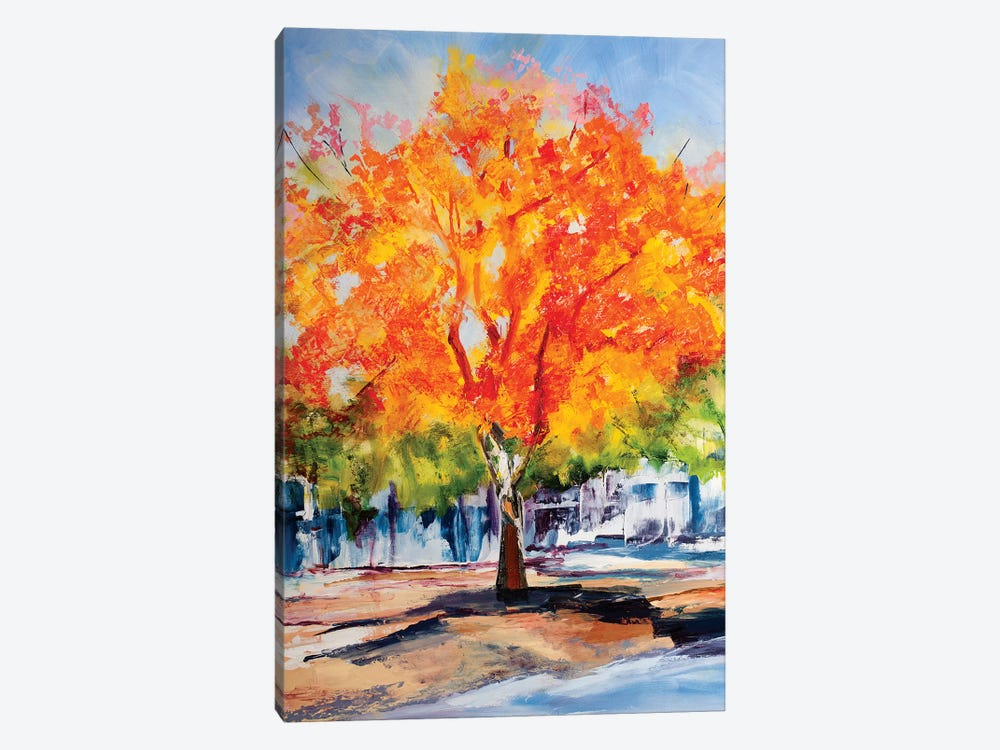 Fall Foliage by Maxine Shore 1-piece Canvas Wall Art