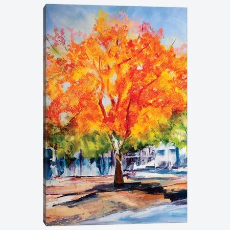 Fall Foliage Canvas Print #SHO9} by Maxine Shore Art Print