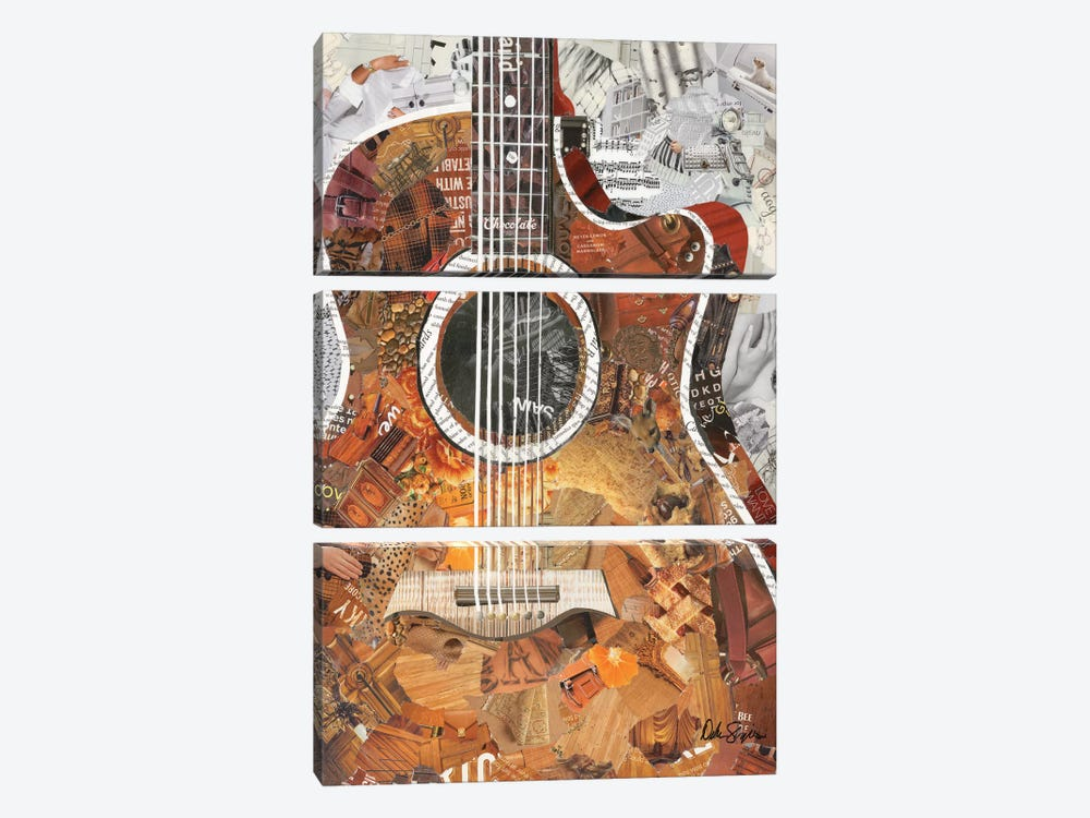 Folk Guitar 3-piece Canvas Wall Art