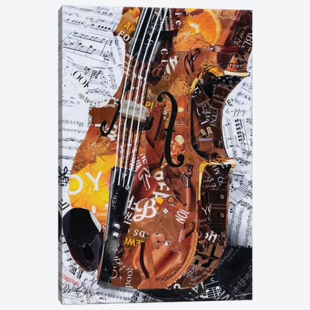 Grandpa's Fiddle Canvas Print #SHP12} by Deborah Shapiro Canvas Print