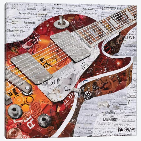 Guitar I Canvas Print #SHP13} by Deborah Shapiro Art Print