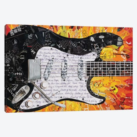 Guitar II Canvas Print #SHP14} by Deborah Shapiro Canvas Wall Art