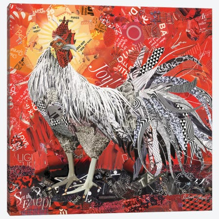 King Rooster Canvas Print #SHP18} by Deborah Shapiro Canvas Print