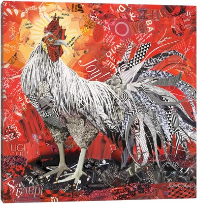 King Rooster Canvas Art Print