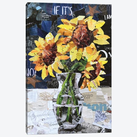 Sunflowers on a Winter's Day Canvas Print #SHP28} by Deborah Shapiro Canvas Artwork