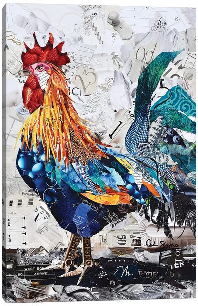 Arnold the Rooster Canvas Art Print