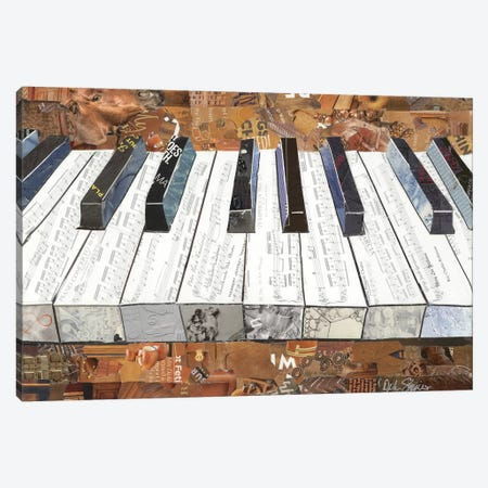 Piano Canvas Print #SHP44} by Deborah Shapiro Canvas Art Print
