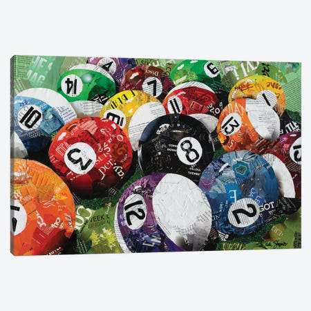 Pool Balls Canvas Print #SHP46} by Deborah Shapiro Canvas Art Print