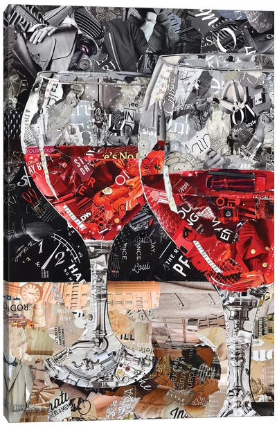 Red, Red Wine Canvas Art Print