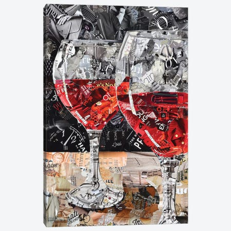 Red, Red Wine Canvas Print #SHP47} by Deborah Shapiro Canvas Art Print