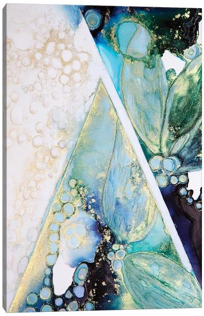 Geo Blues Canvas Art Print