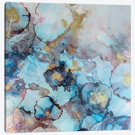 Golden Foral 3-Piece Canvas #SHW36} by Mishel Schwartz Canvas Print
