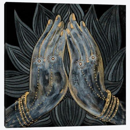 Lotus Prayer Canvas Print #SHW43} by Mishel Schwartz Art Print