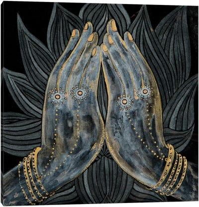 Lotus Prayer Canvas Art Print