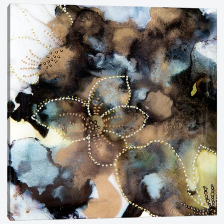Black & Gold Abstract Canvas Print #SHW74} by Mishel Schwartz Canvas Print
