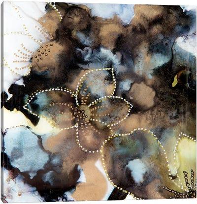 Black & Gold Abstract Canvas Art Print