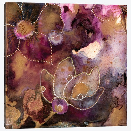 Flowering Fuchsai Canvas Print #SHW75} by Mishel Schwartz Canvas Print