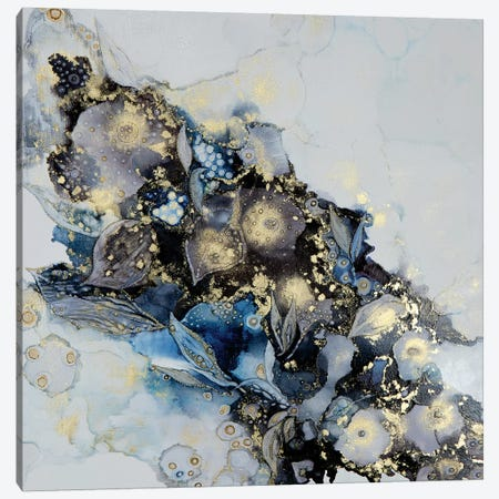 Meandering Into Blue Canvas Print #SHW77} by Mishel Schwartz Canvas Print