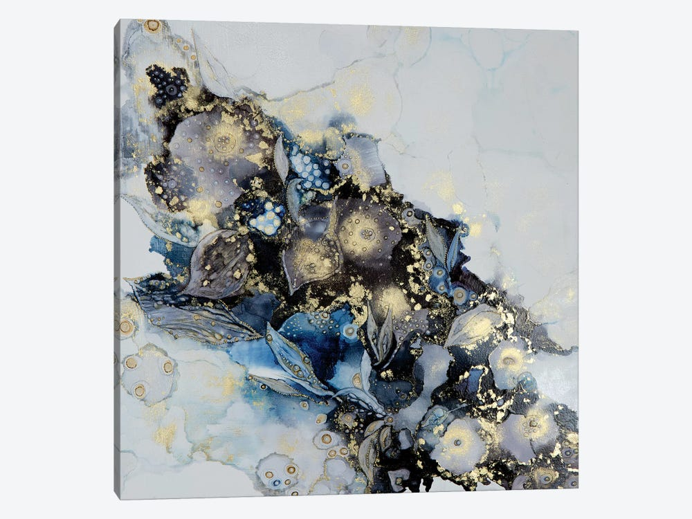 Meandering Into Blue by Mishel Schwartz 1-piece Canvas Print