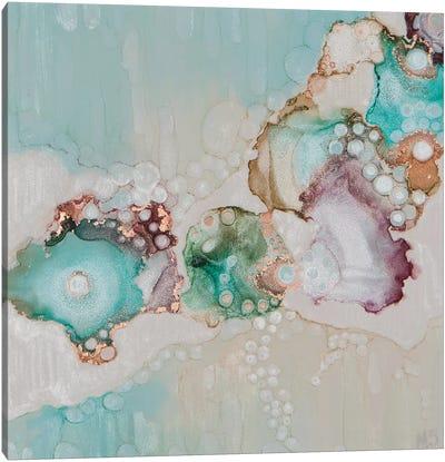 Turquoise Snowfall Canvas Art Print