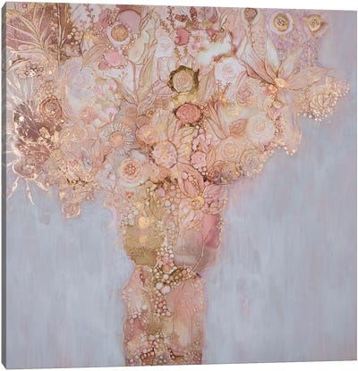 Blushing Bouquet Canvas Art Print