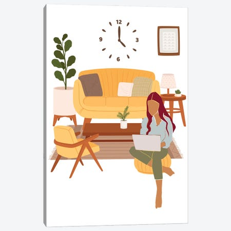 Let's Study Canvas Print #SHZ101} by Jania Sharipzhanova Canvas Art Print