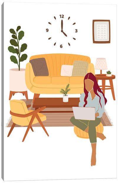 Let's Study Canvas Art Print