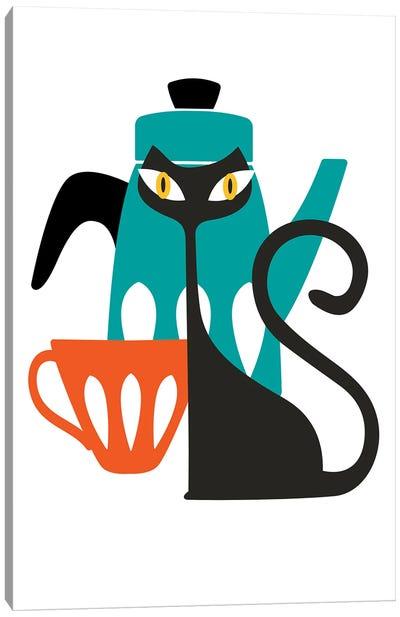 Atomic Cat Canvas Art Print