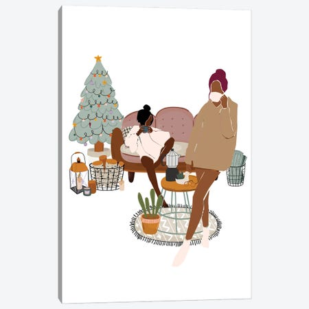 Christmas Holidays Canvas Print #SHZ15} by Jania Sharipzhanova Canvas Artwork