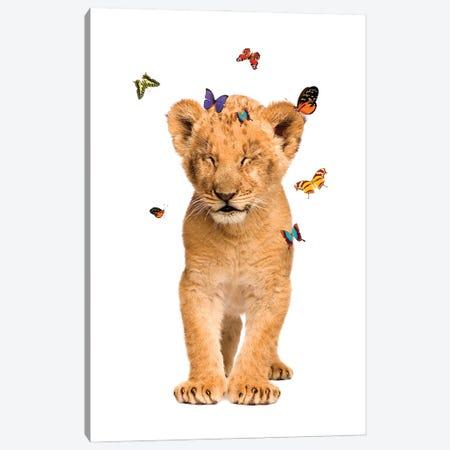 Lion Cub Canvas Print #SHZ3} by Jania Sharipzhanova Canvas Print