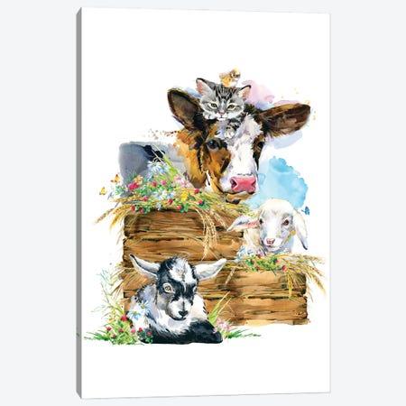 Farm Sign Canvas Print #SHZ54} by Jania Sharipzhanova Canvas Wall Art