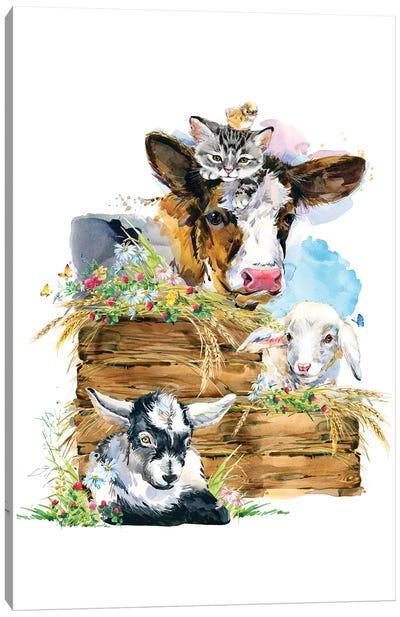 Farm Sign Canvas Art Print