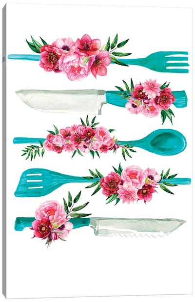 Knife Print Fork Print Canvas Art Print