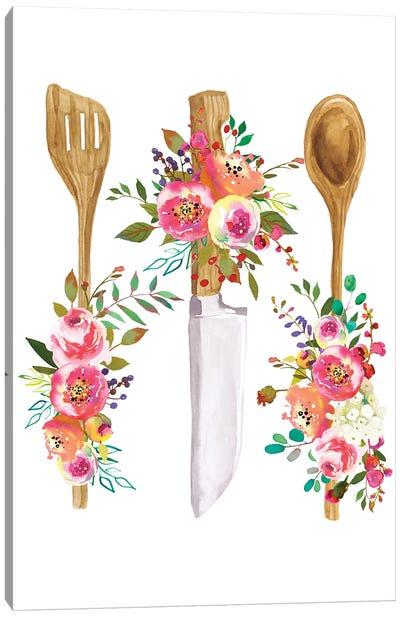 Cutlery Print Canvas Art Print