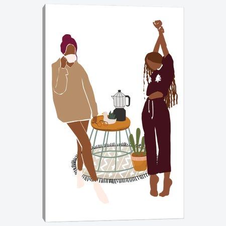 Merry Christmas Morning Canvas Print #SHZ66} by Jania Sharipzhanova Art Print