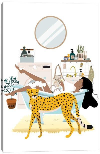Cheetah Urban Jungles Canvas Art Print