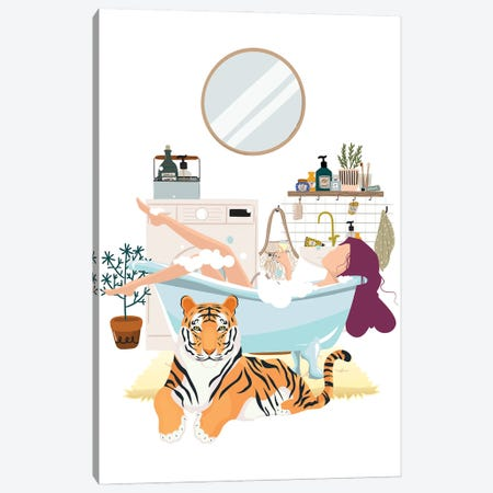 Tiger Urban Jungles Canvas Print #SHZ78} by Jania Sharipzhanova Canvas Print