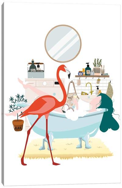 Flamingo Urban Jungles Canvas Art Print