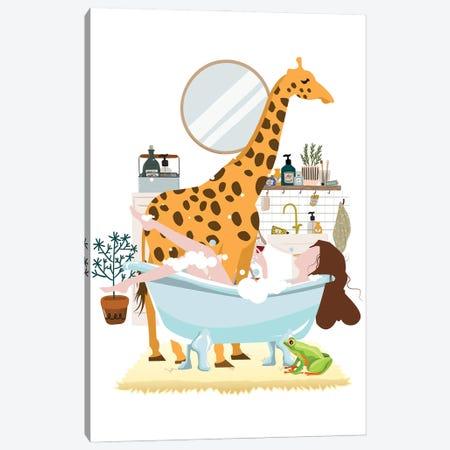 Giraffe Urban Jungles Series Canvas Print #SHZ90} by Jania Sharipzhanova Art Print