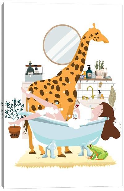 Giraffe Urban Jungles Series Canvas Art Print