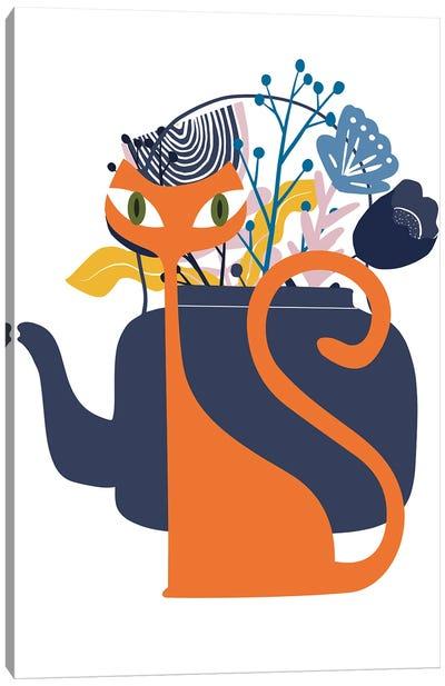 Mod Ginger Cat Canvas Art Print
