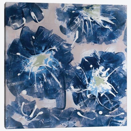 Blossom Blue II Canvas Print #SIA14} by Sia Aryai Canvas Artwork