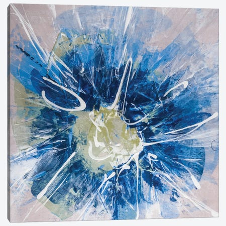 Blossom Blue III Canvas Print #SIA15} by Sia Aryai Canvas Artwork