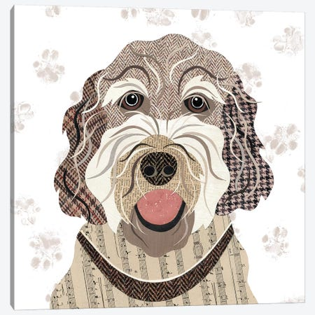 Labradoodle Canvas Print #SIH101} by Simon Hart Canvas Art Print